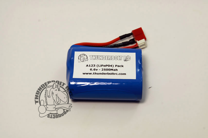 A123 (LiFeP04) Pack (2 Cell 6.6v - 2500Mah)