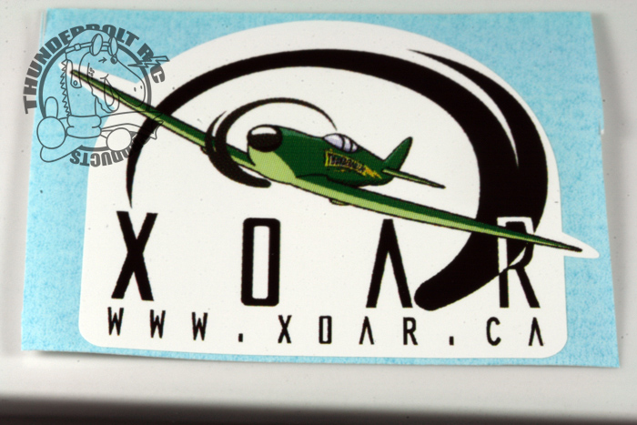 "Xoar Vinyl Decal With Warbird Plane Large (3"" Square)"